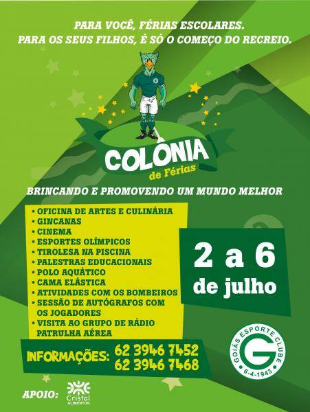 Colônia de Férias do Goiás tem programação recheada | Foto: Divulgação