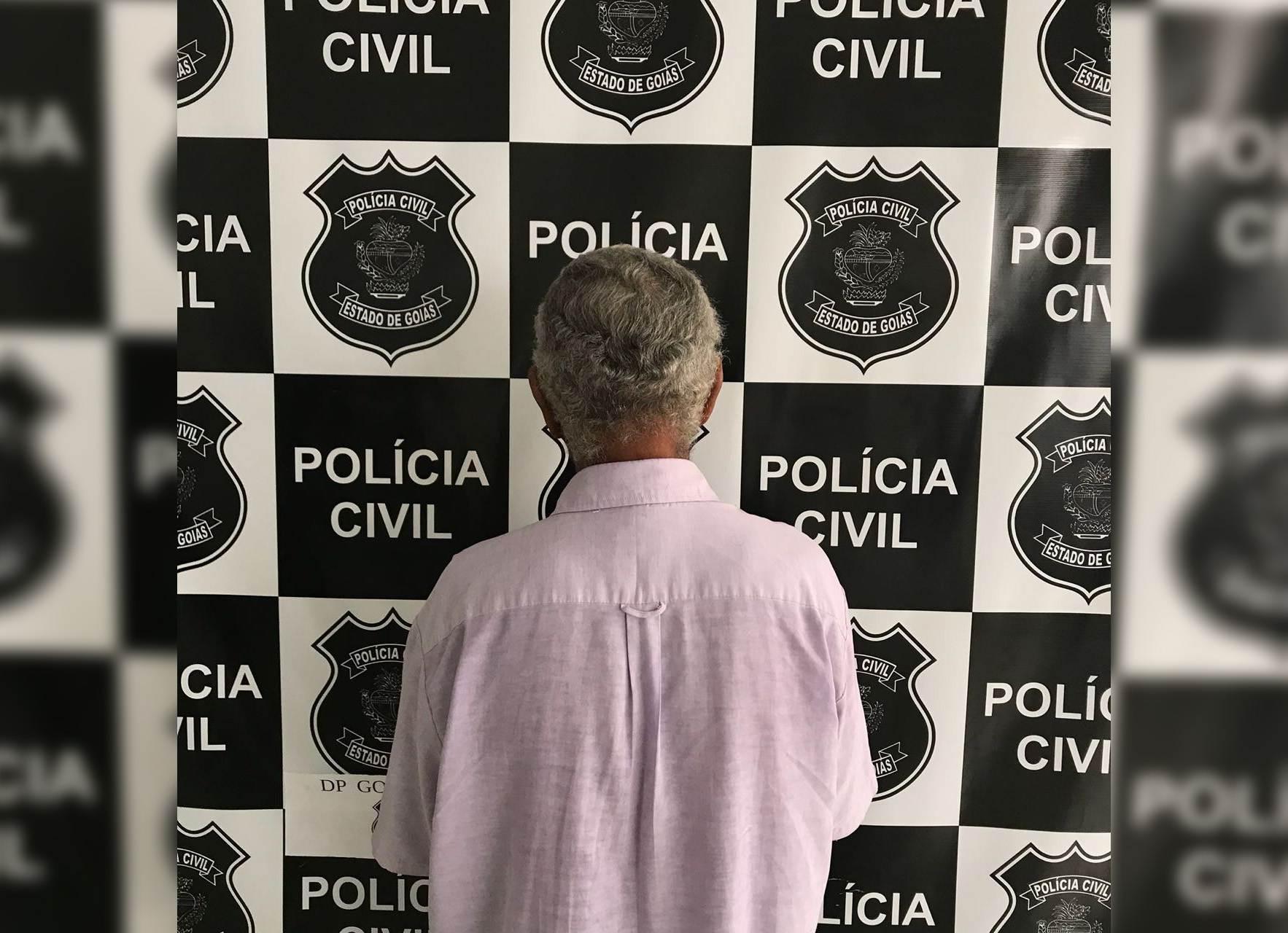 Idoso é preso em Goiatuba suspeito de estuprar crianças | Foto: Divulgação/PC