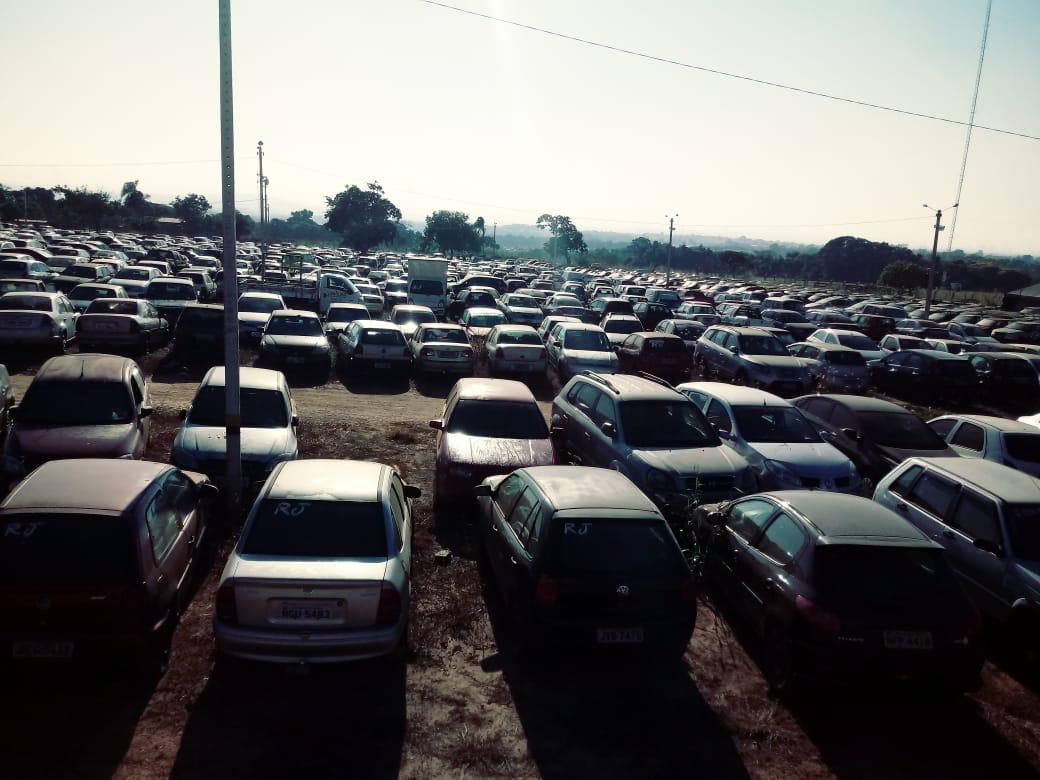 Finalidade da venda é a desocupação dos pátios em que estão depositados os veículos | Foto: Divulgação/Detran-GO