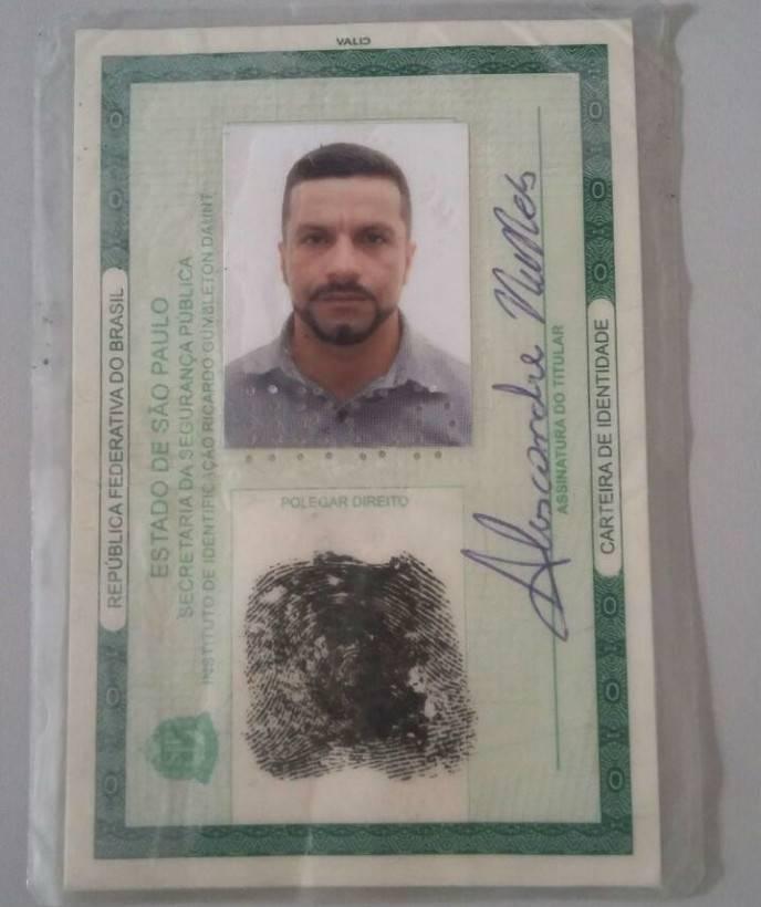 Criminoso usava documento falso quando foi apreendido | Foto: Divulgação/PC