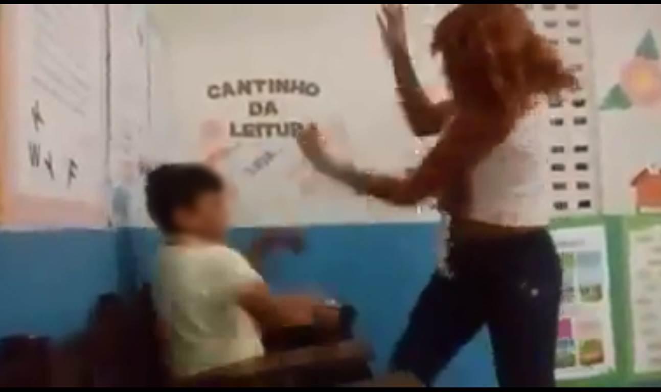 Notícia falsa de suposta professora espancando aluno toma o WhatsApp | Foto: Reprodução