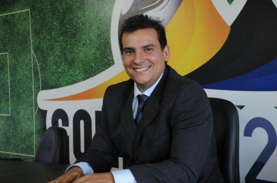 Atual presidente da Federação Goiana de Futebol (FGF) André Pitta | Foto: Divulgação / FGF