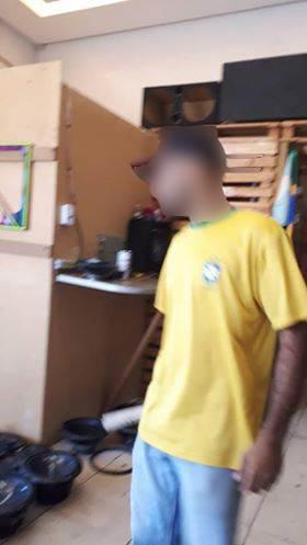 Leitora do Folha Z envia imagem de suspeito em loja próxima ao albergue em que ele mora   Foto: Leitora/ Facebook