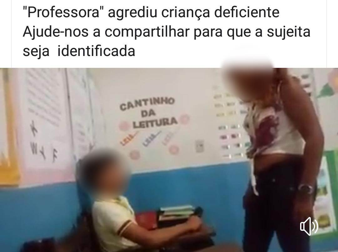 Professora espanca aluno deficiente em Goiás? Fake News | Foto: Reprodução / Redes Sociais