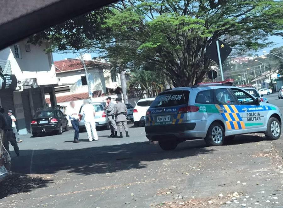 Briga entre passageira e motorista acaba na delegacia após desentendimento por troco em Goiânia | Foto: Leitor Folha Z