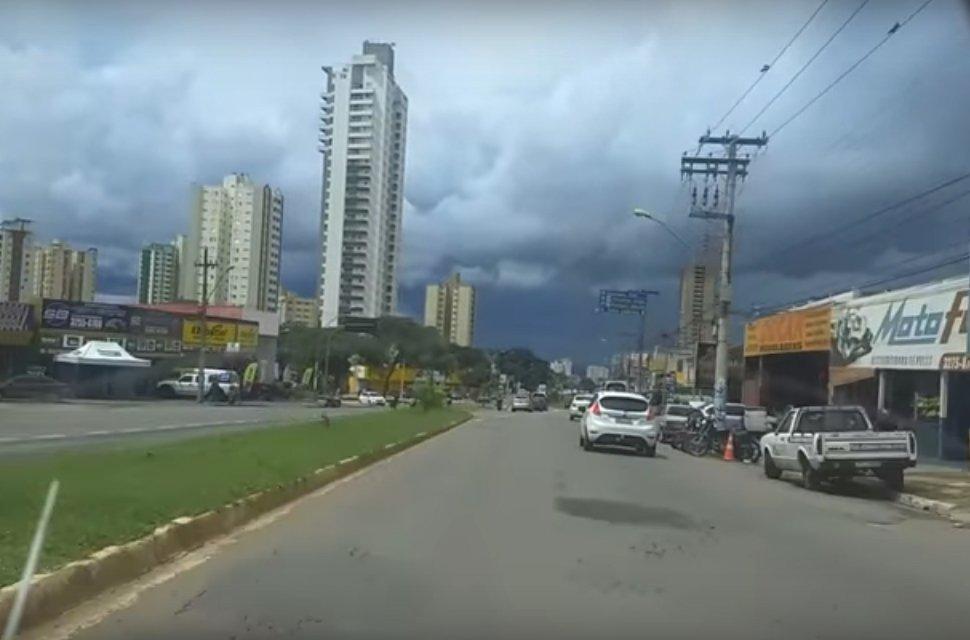 De acordo com o Instituto Nacional de Meteorologia (Inmet), chuva vai cair em Goiânia | Foto: Reprodução
