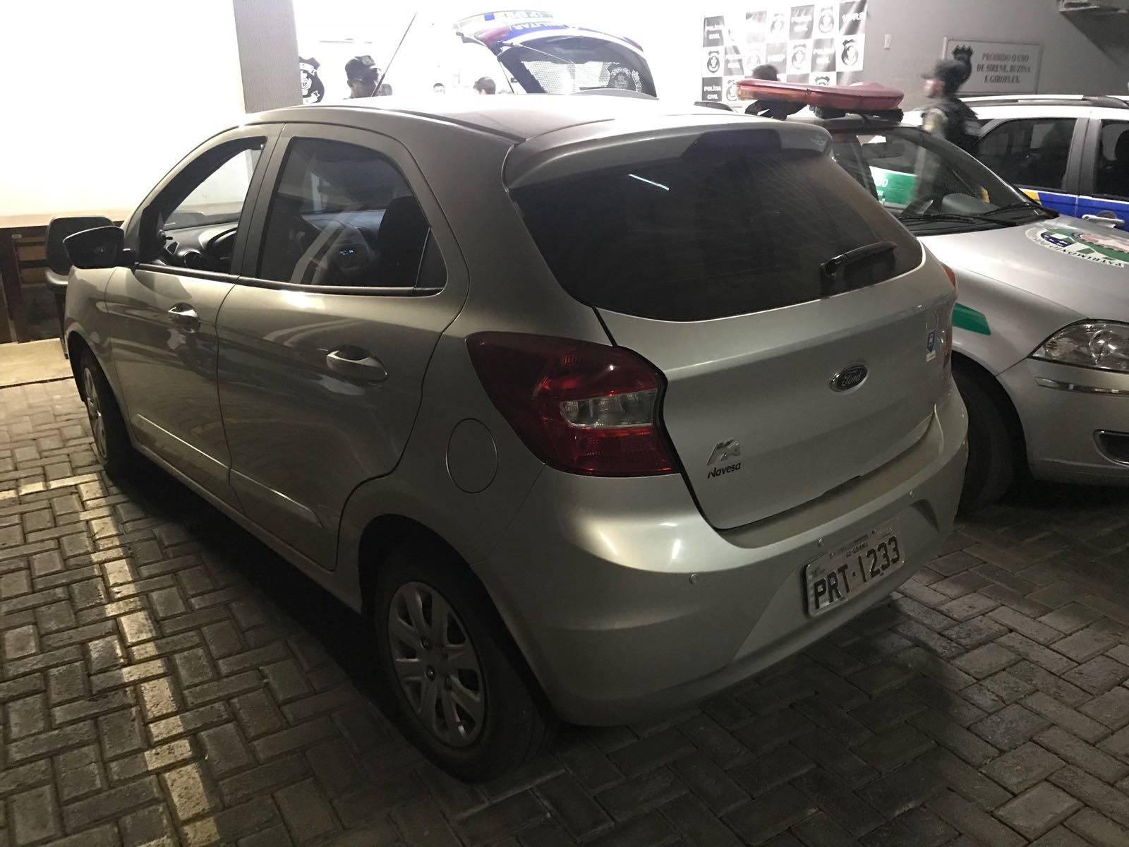Ford Ka roubado, com placa clonada, usado pelo trio em diversos crimes | Foto: divulgação