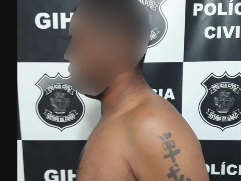 O homem havia acabado de cumprir pena por roubo em Valparaíso | Foto: Reprodução/Polícia Civil