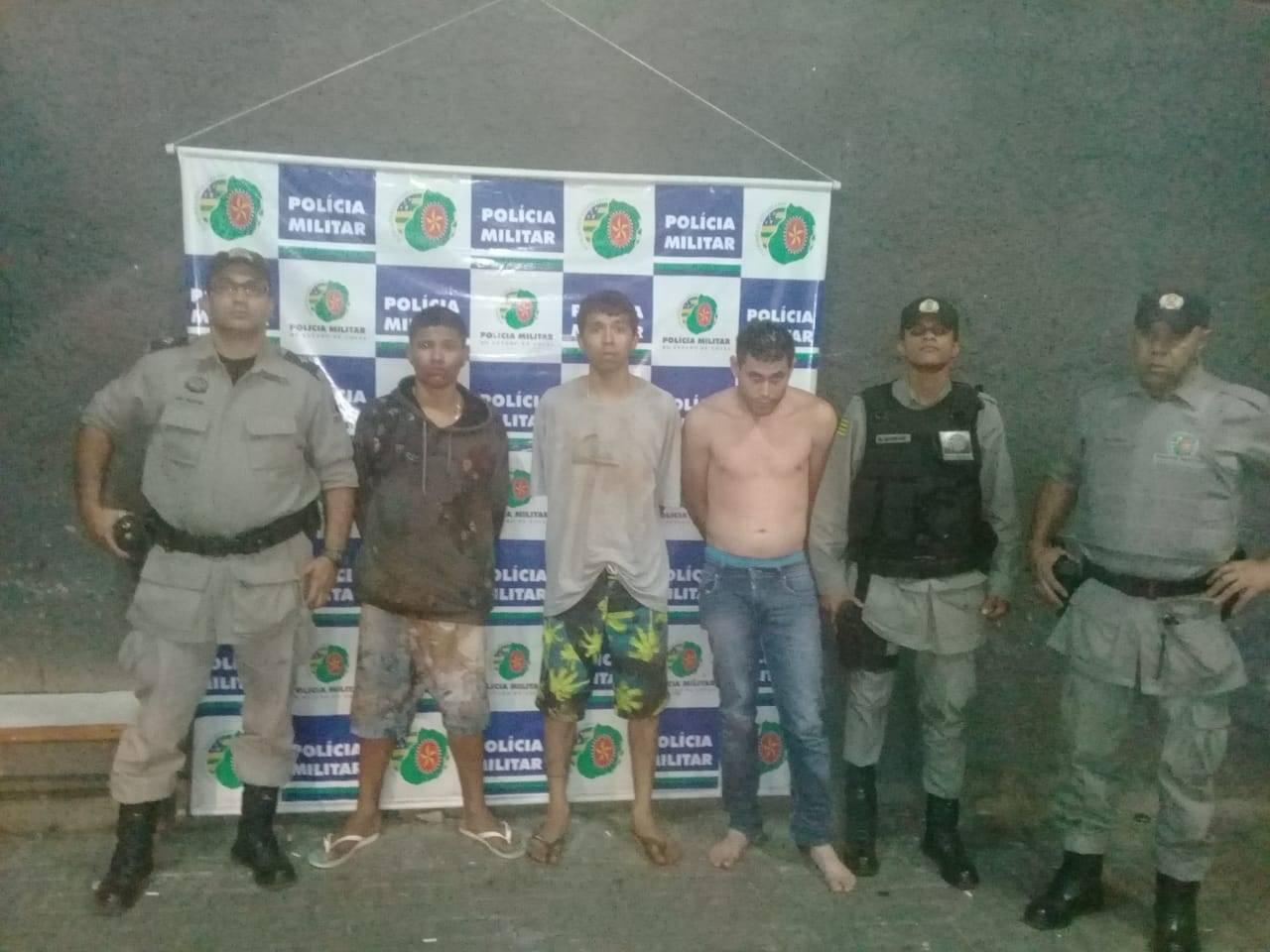 Trio tem diversas passagens pela polícia | Foto: divulgação