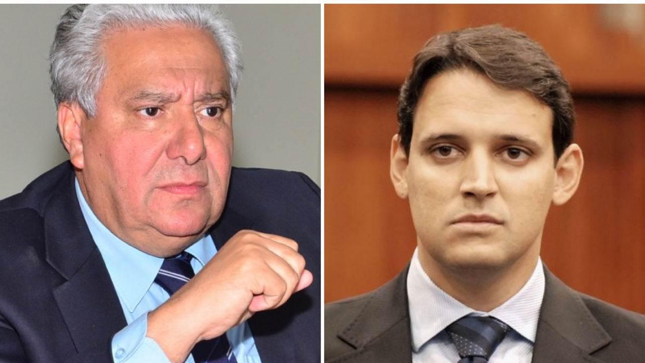 Thiago Peixoto está brigado com Vilmar Rocha. Confusão envolve o PSD com a base aliada   Foto: montagem Folha Z