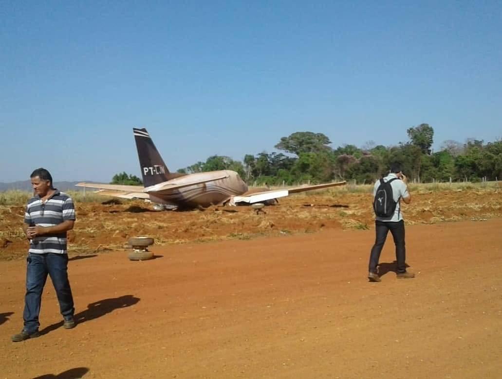 Avião que levava Daniel Vilela e comitiva cai em Itapaci | Foto: divulgação