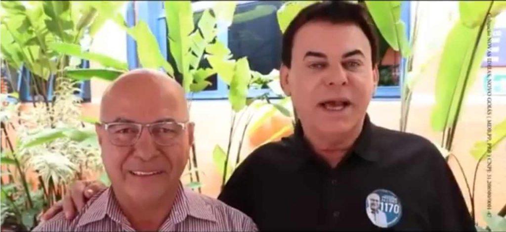 O radialista Barbosinha anuncia apoio espontâneo e pede votos ao candidato a Deputado Federal Professor Alcides | Foto: Divulgação