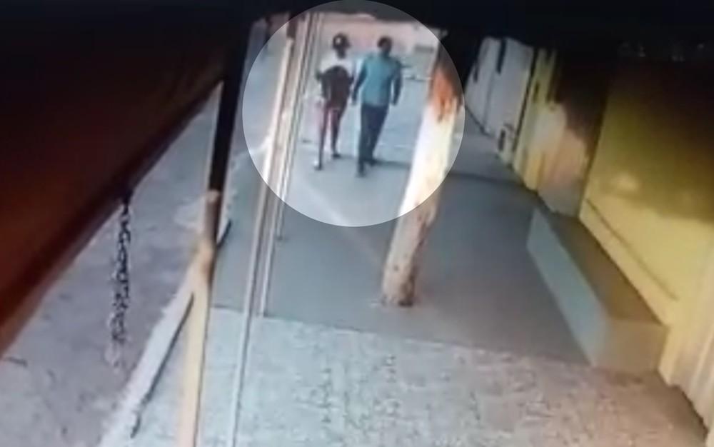 Câmera de segurança registraram última vez que Camily foi vista   Foto: Reprodução