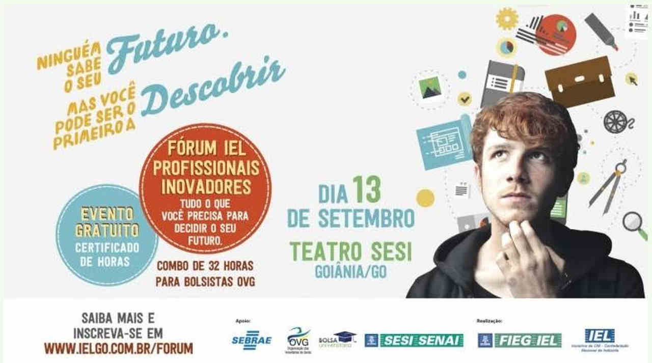 Cartaz informativo do fórum IEL