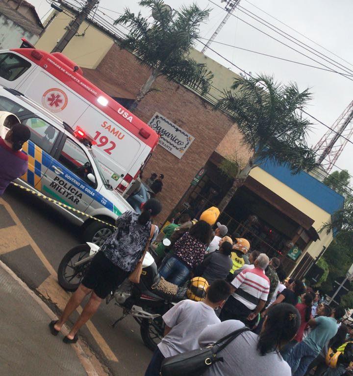 O crime ocorreu no Centro da cidade e assustou a vizinhança local | Foto: Leitor do Folha Z