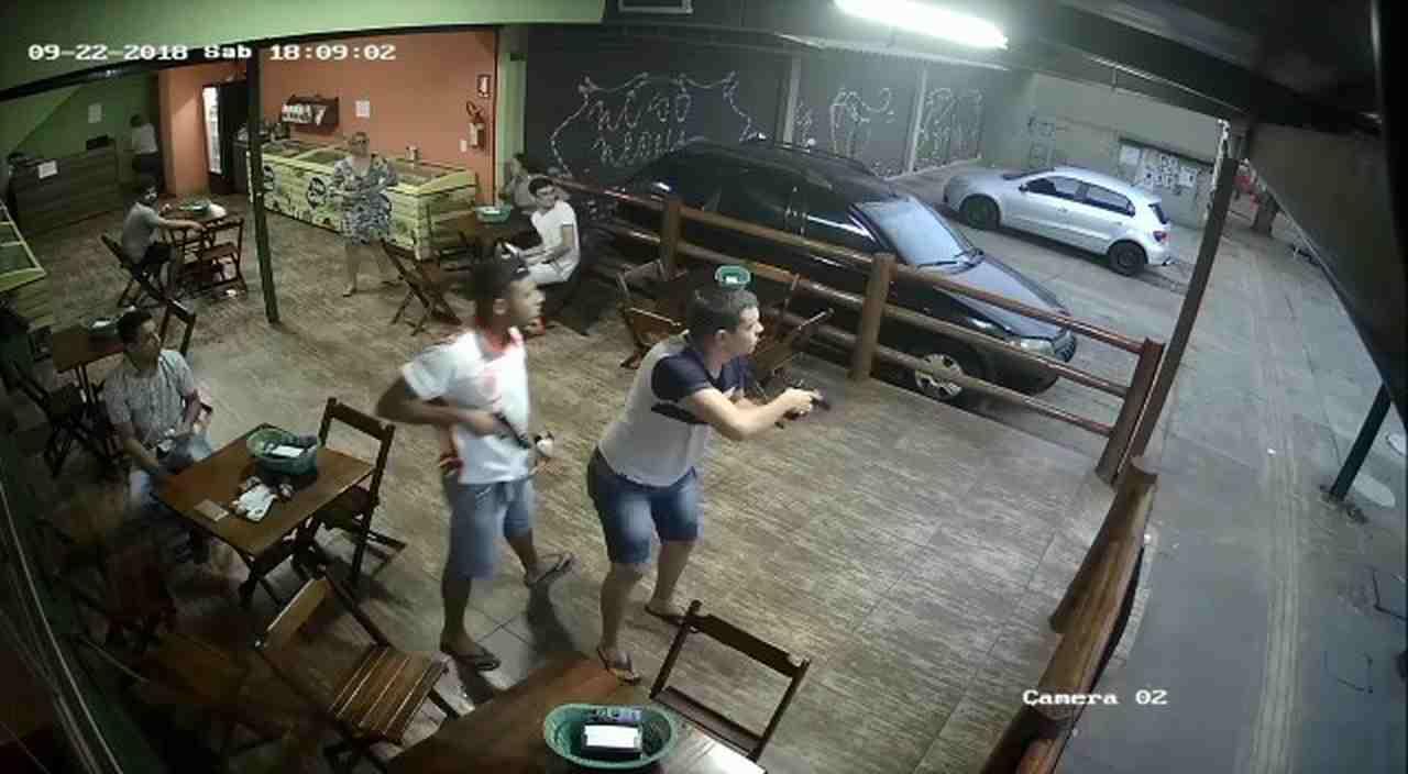 Policiais reagem a assalto no Jd. das Hortências, em Goiânia | Foto: Reprodução
