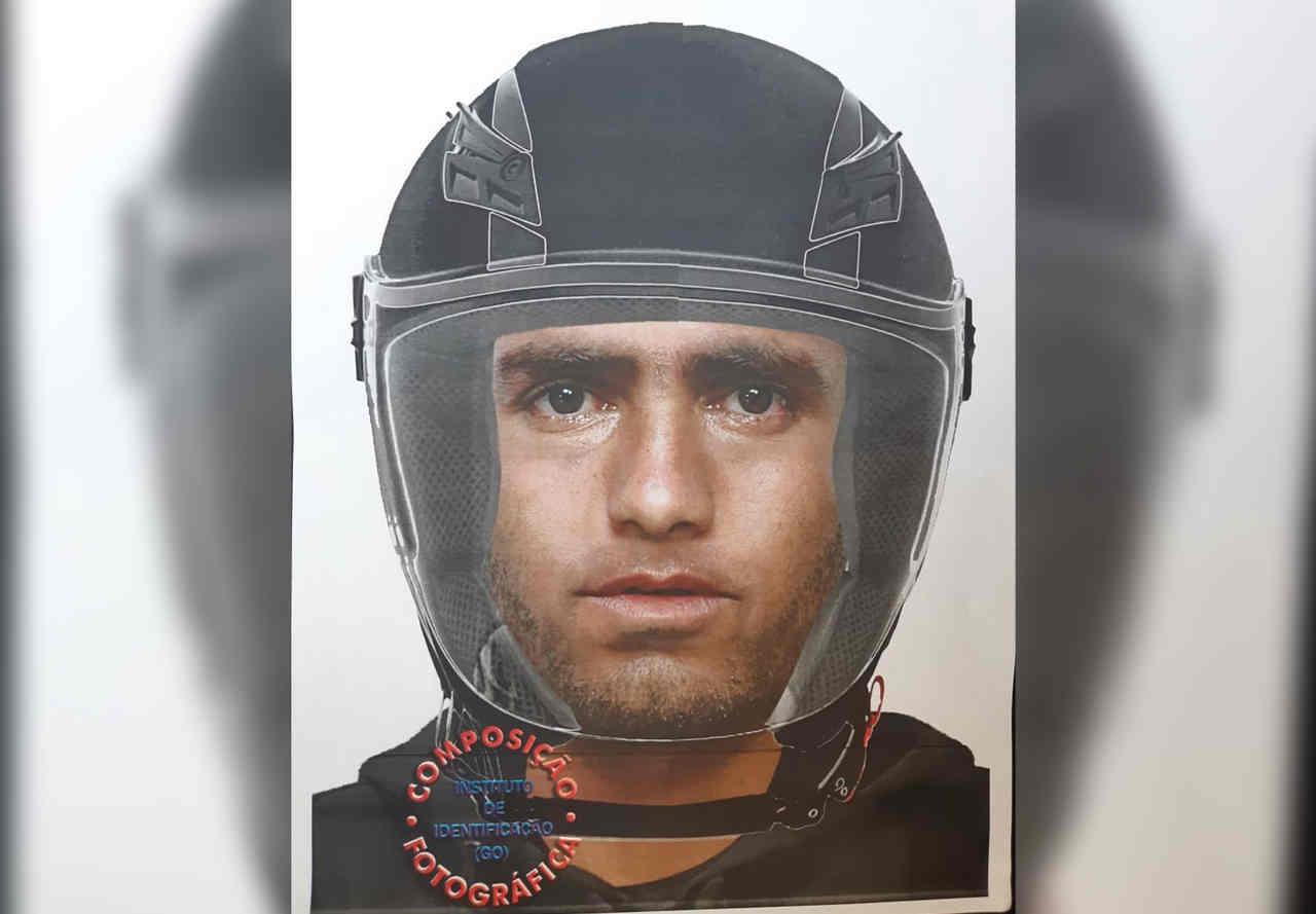 Polícia Civil divulga retrato falado de criminoso que é conhecido como Tarado da Moto e tem atuado na Região Noroeste de Goiânia | Foto: Divulgação / PC