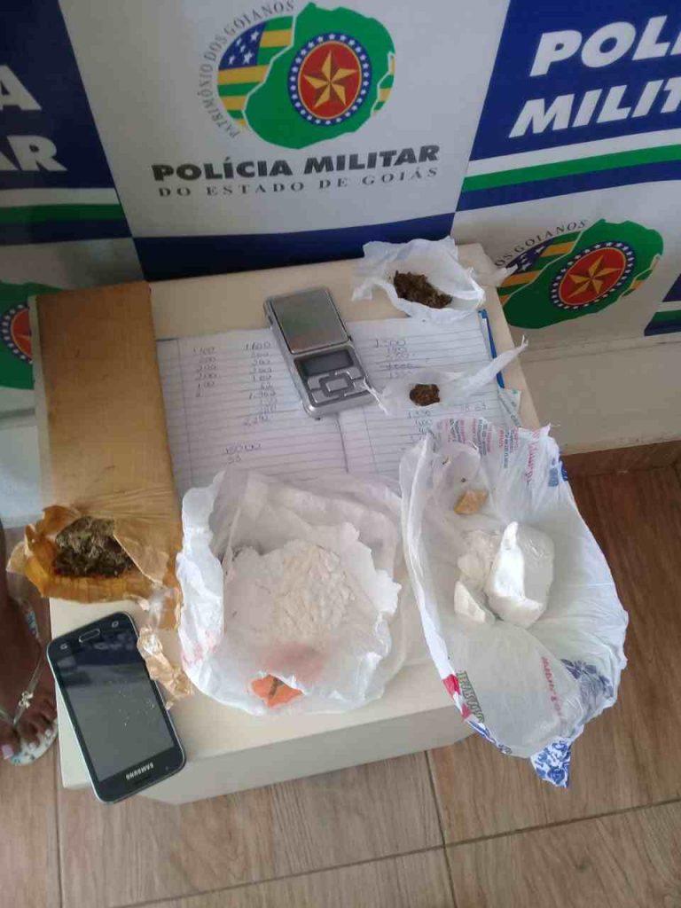 Drogas encontradas na casa da irmã do assassino | Foto: Reprodução/ Polícia Civil
