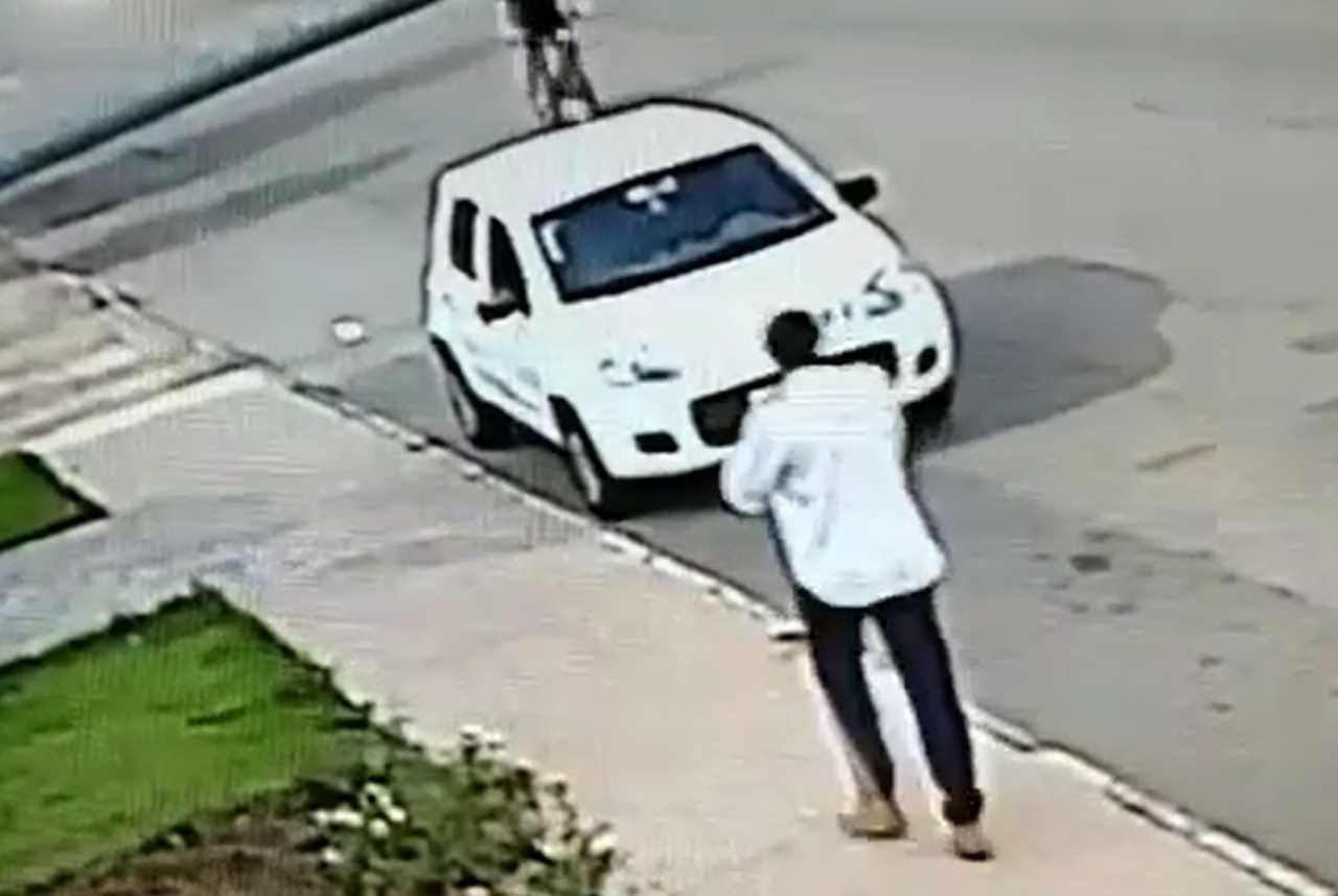Homem comete dois assaltos no Jardim América e Parque Oeste Industrial, em Goiânia | Foto: Reprodução
