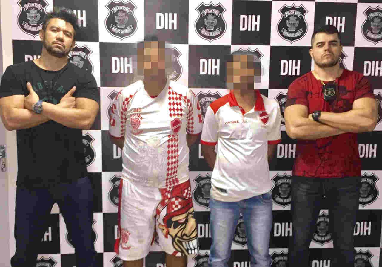 Membros de organizada do Vila Nova foram presos suspeitos de homicídio | Foto: Divulgação / PC