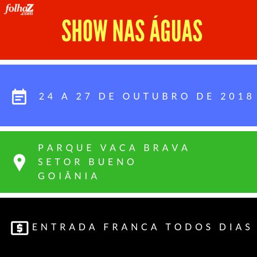 Pela primeira vez na capital, o Show nas Águas promete homenagear o 85º aniversário de Goiânia | Foto: divulgação
