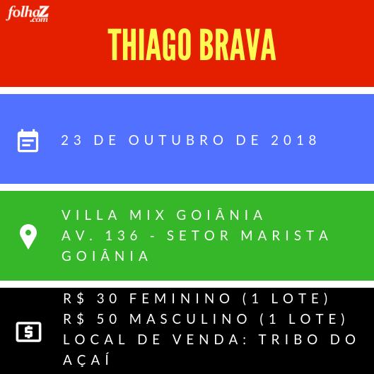 Serviço do evento de Thiago Brava na Villa Mix | Foto: montagem Folha Z