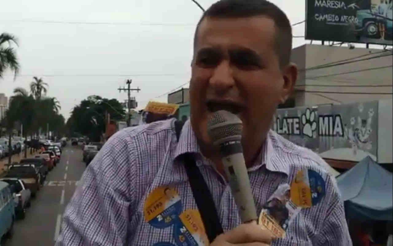 Candidato a deputado estadual, Ulisses Sousa defende Ponte da T-8 | Foto: Reprodução