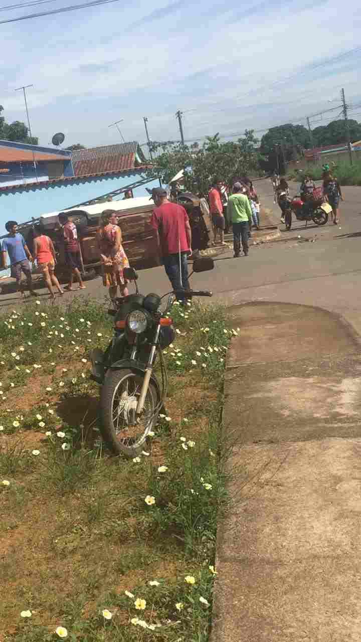 Grave acidente no Jardim Ipiranga, em Aparecida, que resultou na morte de uma pessoa | Foto: reprodução