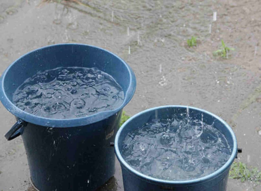 Presidiários do POG estão usando de baldes para captar água da chuva | Foto: Reprodução/ilustração