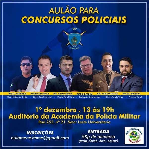 Curso para carreiras policiais é ofertado gratuitamente em Goiânia | Foto: Divulgação