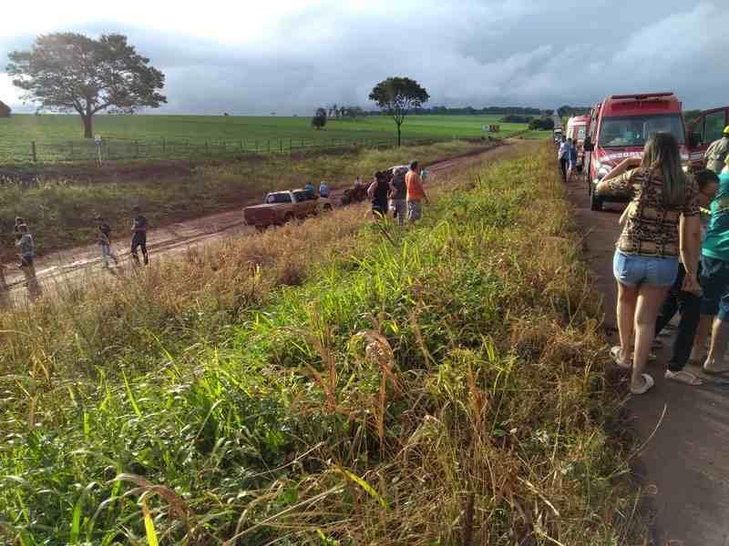 Colisão entre caminhonetes próximo a Rio Verde deixa duas vítimas fatais | Foto: Reprodução
