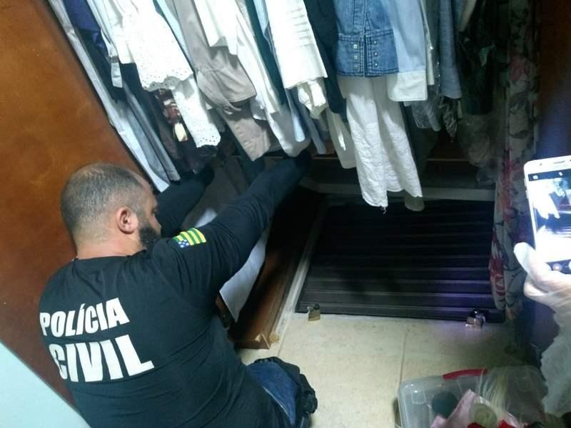 Casa de João de Deus tem esconderijo em fundo falso de armário | Foto: Divulgação / PCGO