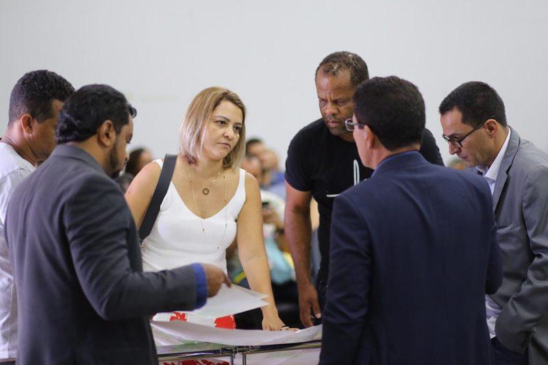 Superintendente de receitas da Secretaria Municipal da Fazenda, Ana Paula Vilela foi à Câmara dos Vereadores para defender projetos encaminhados pelo Executivo   Foto: Assessoria / Câmara