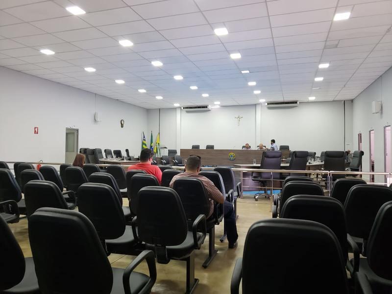 Exemplo de sessão vazia na Câmara de Aparecida de Goiânia | Foto: Folha Z