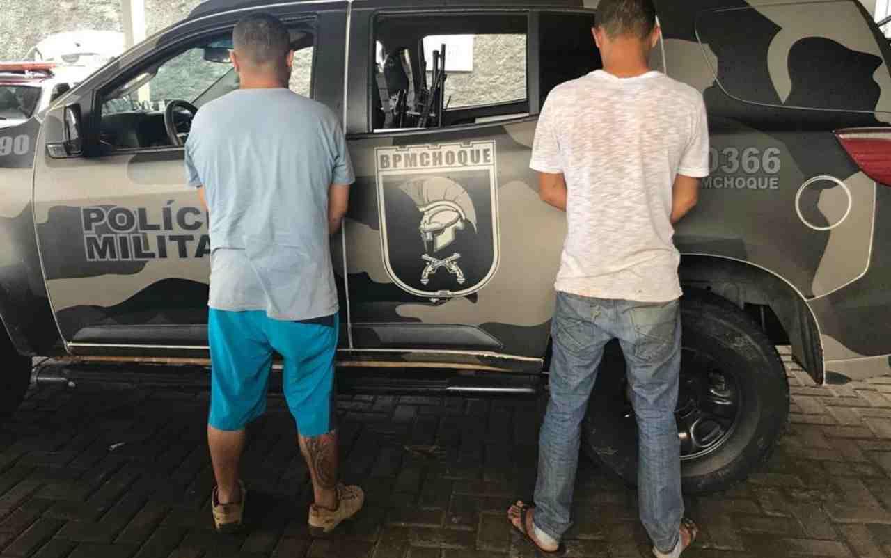 Suspeitos rendidos PM paisana