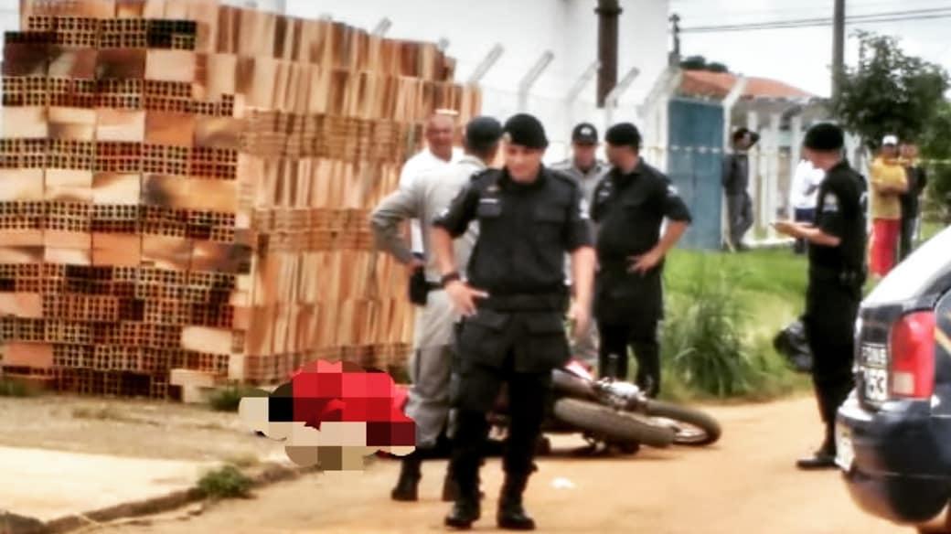 GCM isolou o local do crime   Foto: Leitor / Whatsap