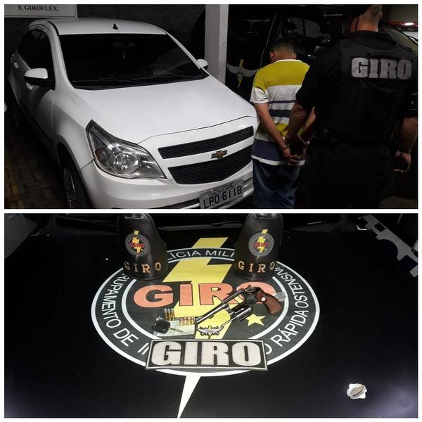 Giro apreendeu armas de fogo, droga e 1 carro roubado com suspeitos de balearem sargento da PM em Goiânia | Foto: Divulgação / PMGO
