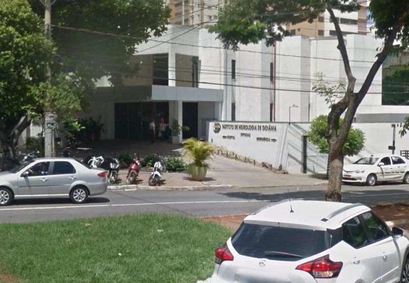 Praça do Instituto Neurológico de Goiânia foi um dos cenários do sequestro do garoto Said em Goiânia | Foto: Google Maps