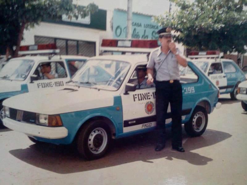 Viaturas antigas da PMGO: Fiat 147 | Foto: Reprodução