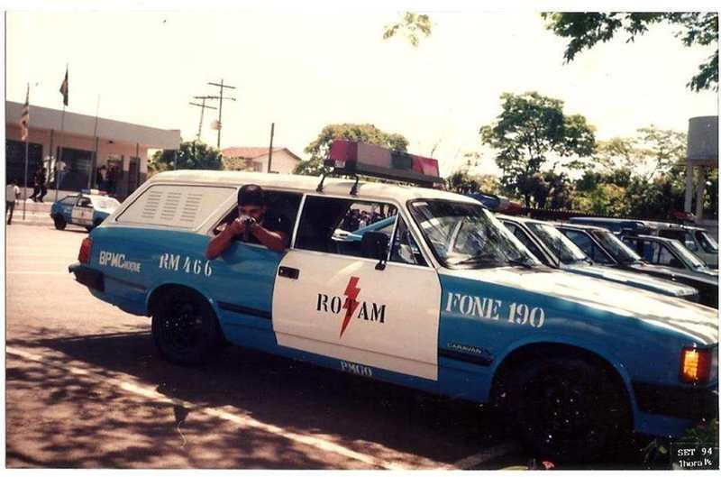 Viaturas antigas da PMGO: Chevrolet Caravan | Foto: Reprodução