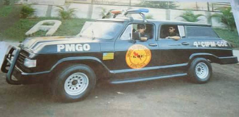 Viaturas antigas da PMGO: Chevrolet Veraneio | Foto: Reprodução