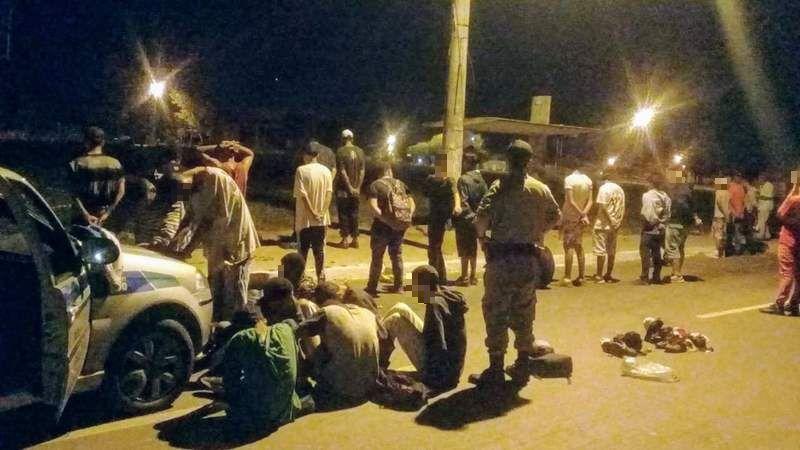 Grupo é preso após fazer arrastão no Aparecida é Show | Foto: Divulgação / PM