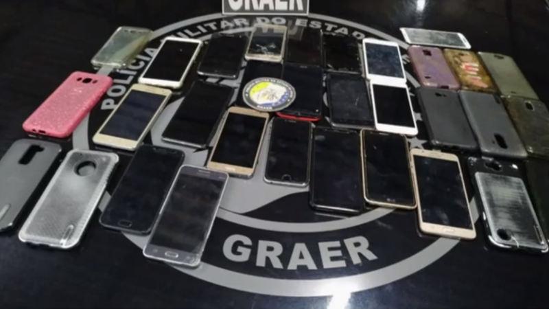 Quadrilha roubou pelo menos 18 celulares no dia do show de Gusttavo Lima em Aparecida | Foto: Divulgação / PM