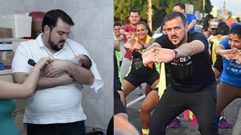 Mendanha perdeu 30 kg em 3 meses com reeducação alimentar e atividades físicas | Foto: Reprodução