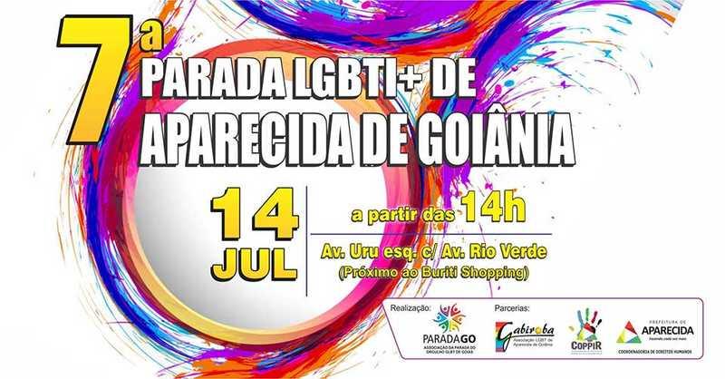 7ª Parada LGBTI+ de Aparecida terá concentração na Avenida Rio Verde | Foto: Divulgação