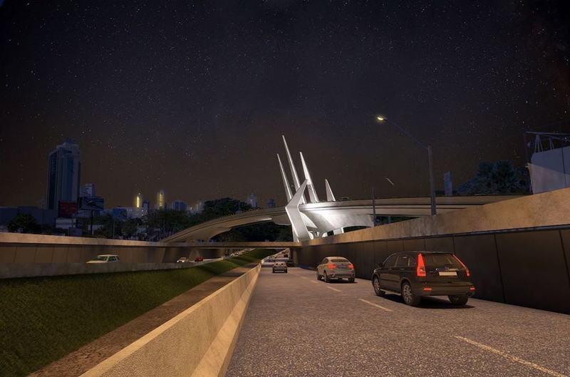 Complexo viário da Jamel Cecílio inclui 3 elementos diferentes de engenharia, nos mesmos moldes do que ocorreu no cruzamento da Avenida 85 com a Avenida T-63   Foto: Divulgação