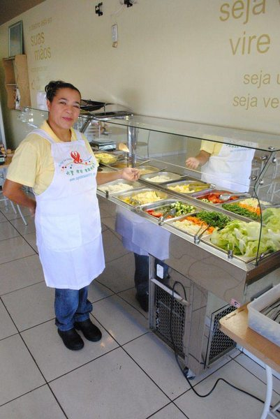 Solange Guida, proprietária do restaurante vegano Loving Hut | Foto: Folha Z