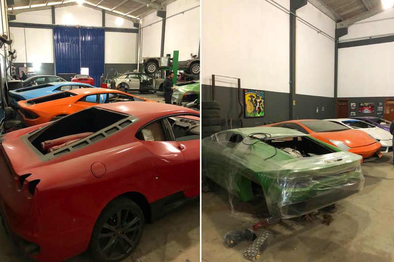 Após denúncia da Ferrari, polícia encontra fábrica de carros de luxo falsificados | Foto: Divulgação / PC