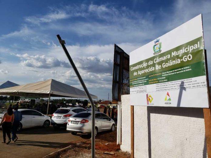 Pedra Fundamental da nova sede da Câmara de Aparecida foi lançada em dezembro de 2018 | Foto: Folha Z