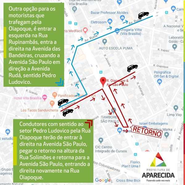 Mudanças no trânsito nas vias que compõem Viaduto da Avenida São Paulo   Foto: Divulgação